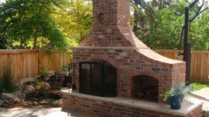 Edina - Clinker Brick Outdoor Fireplace