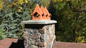 Orono - New Chimney Crown with Clay Chimney Pots